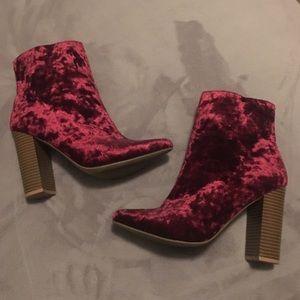Wild Diva Burgundy Boots
